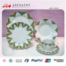 Art Stylistic Porcelain Dinner Plates for Restaurant