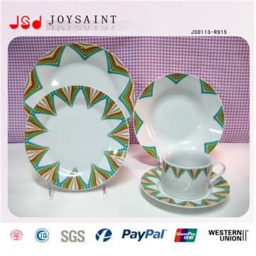 Art Stylistic Porcelain Dinner Plates for Restaurant