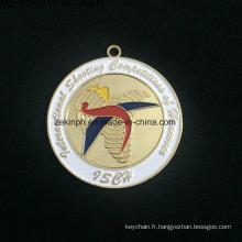 Médaille d'alliage Znic personnalisé pour Isca or médaille moderne Medall
