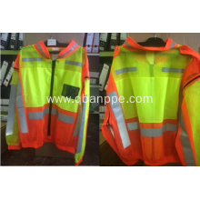 Zipper-off reflective mesh jacket with long sleeves