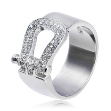 Jewelry French  Fred wedding ring real 925 silver with CZ stones elegant women's wedding rings