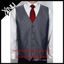 Usine chinoise en gros hommes costume polyester gilet cravate ensemble