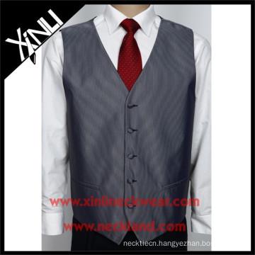 Chinese Factory Wholesale Men Suit Polyester Vest Tie Set