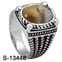 New & Personalized Designs 925 Sterling Silver Men Ring with Natural Stone (S-13448)