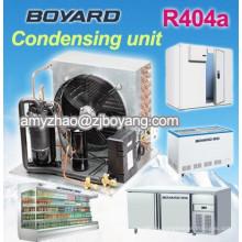 Congelador de la isla de cristal doble con boyard unidad condensadora