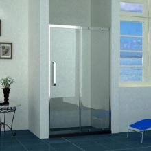 Tempered Glass Shower Screen with Stainless Steel Frame and Handle, Sliding Door