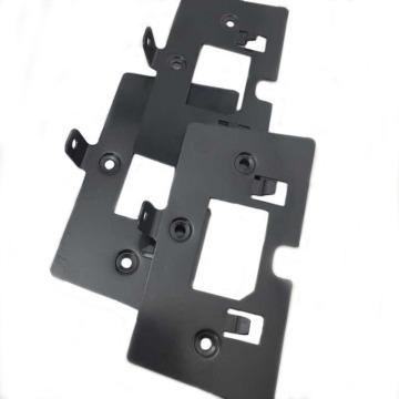 Peças de dobra fazendo à máquina anodizadas preto do CNC