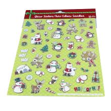 Autocollants décoratifs de cadeau d'enfants de mini PVC décoratif mignon de Noël de couleur bricolage