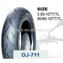 china deji motorcycle tires/tyre and tube price 90/90-10 3.50-10TT