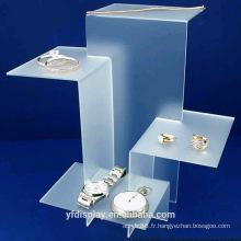 Présentoir à bijoux acrylique givré sur mesure