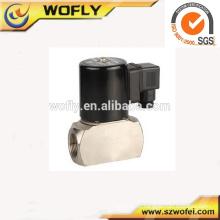 Corps en acier inoxydable haute fréquence Viton Seal 12vdc électrovanne haute température 1/4