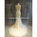 China Dress Manufacturer lace short wedding dress long train
