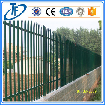 Powder Painting Grey Palisade Fencing