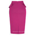 Grace Karin Women's High Stretchy Hips-Wrapped Vintage Retro Deep Pink Fushia Pencil Skirt CL010454-6