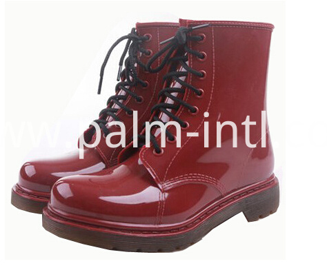 Lady Fashion PVC Rain Shoes