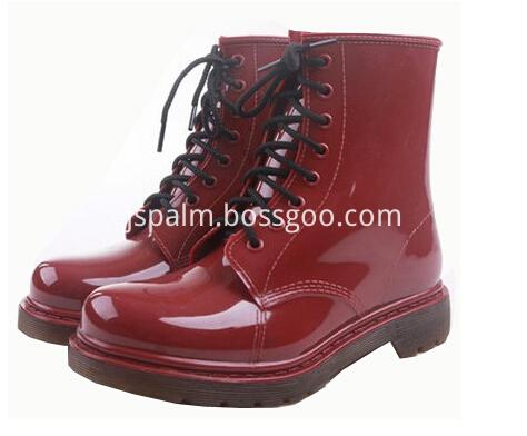 Lady Fashion PVC Rain Shoes