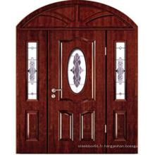 Porte d'entrée en bois d'entrée position porte porte en bois double battant