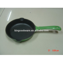 good quality enamel round cast iron skillet/fry pan
