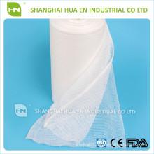 Avec CE FDA ISO certifié en Chine haute absorbant médical rouleau de gaze