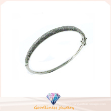 Good Quality Jewelry 3A 925 Silver Simple Style Bangle (G41272)