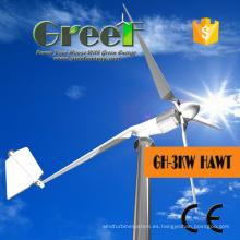 Molino de viento generador eléctrico para 3kw en sistema de rejilla