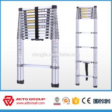 Escalera plegable rápida caliente de la venta EN131, escalera telescópica de aluminio, escalera portátil de aluminio