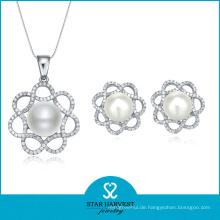 2015 Lucky Pearl Silberschmuck Set Verkauf online (J-0011)