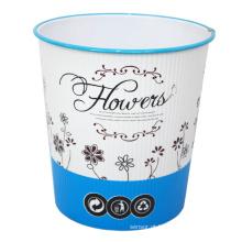 Flor de plástico impresso aberto lixeira superior (B06-930H)