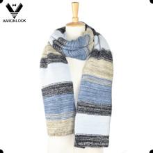 2016 moda rayas coloridas modelado invierno hombres bufanda