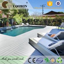 Outdoor terrace grey sanding easily composite deck maintenance