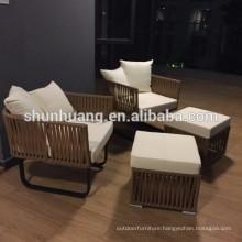 Bamboo outdoor furniture Garden wicker sofa rattan corner sofa sets