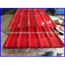 Hoja de techos de acero galvanizado recubierto de color