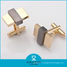 Оптовые 2 тонов покрынные серебряные запонки 925 (SH-BC0007)