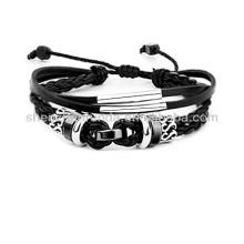 Bracelet à cordon en cuir à la main pur Bracelet en cuir personnalisé