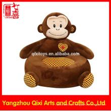 Atacado animal em forma de sofá de pelúcia cadeiras de animais para crianças recheado e macaco de pelúcia kid sofá macio