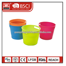 Beer promotion colorful factory plastic ice bucket 5L