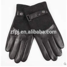 Herren Winter personalisierte Lammfell Radfahren Leder Handschuhe