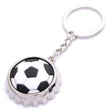 Promotion-Fußball-Flaschen-Kappen-Flaschen-Öffner mit Keychain (F5037)