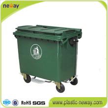 Uso ao ar livre e Eco-Friendly característica de resíduos de plástico Bin 1100L