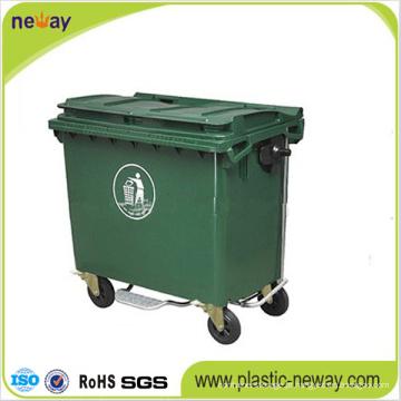 Escaninho Waste exterior plástico Eco-Amigável 660L