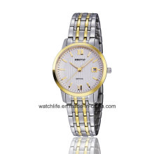 Stainless Steel Sapphire Mirror Watches Couple Wrist Watch