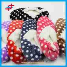 2015 hot sale circle pattern color ladies super soft snow home half boots