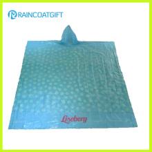 Poncho de lluvia de PE impreso promocional (RPE-005)