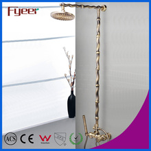 Fyeer Luxury Solid Brass Bathroom Antique Rainfall Shower Set