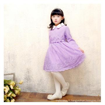 nouvelle conception bébé grils robe en dentelle pull pour l'automne ou l'hiver