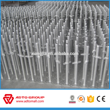 Scaffolding jack base solid & hollow screw jack base used for ringlock system and frame system high quality