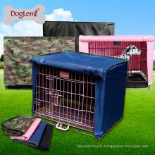 Couverture imperméable molle pliable de caisse d'animal familier pour la couverture de cage de chenil de chien de caisse