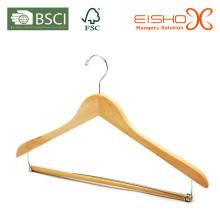 Wooden Anzug Kleiderbügel mit Pant-Locking Bar (MP639)