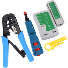 Kit de rede com ferramenta de aperto e ferramenta de crimpagem