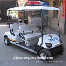Cheap Chinese 4 seat police patrol cars powered by battery for sale